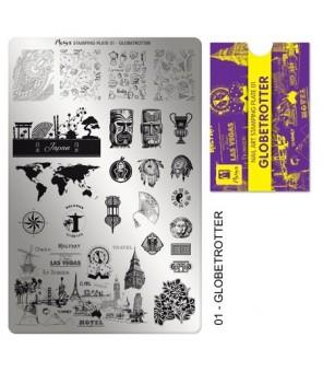 Plaque stamping Globetrotter Retrouver des motifs des monuments historiques du monde