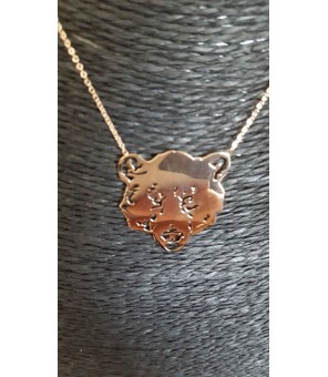 Collier Médaille Ours