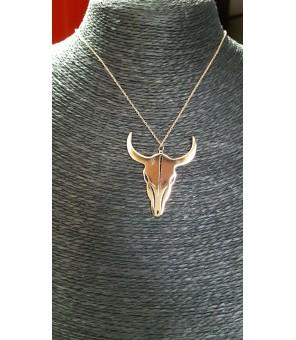 Collier Médaille Taureau