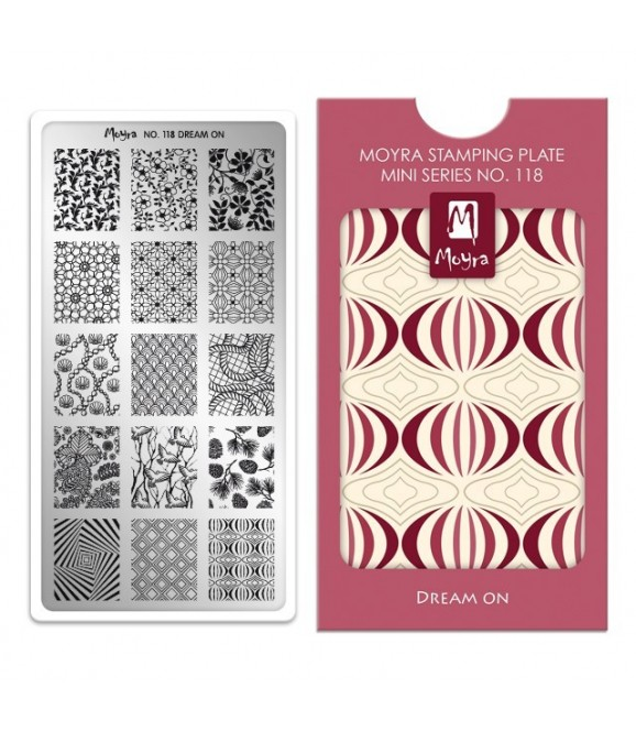 Mini plaque stamping DREAM ON N°118