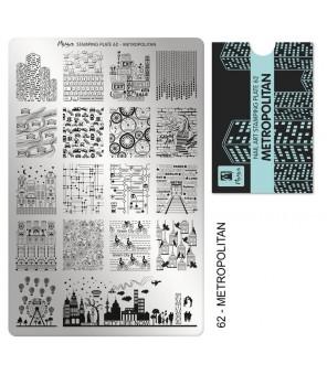 Plaque Moyra N°62 Metropolitaine