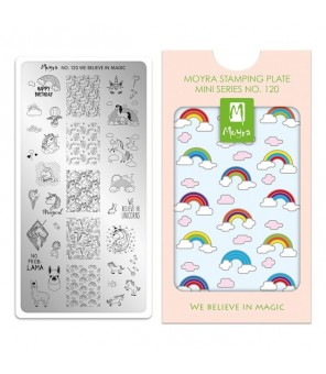 MINI plaque stamping N°120 we beleive in magic (licorne)