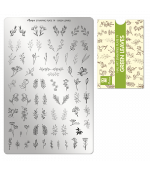 plaque stamping Green leaves
