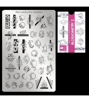 une combinaison de figures géométriques et de motifs floraux