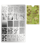 plaque de stamping aux motifs représentants des textures de tissus